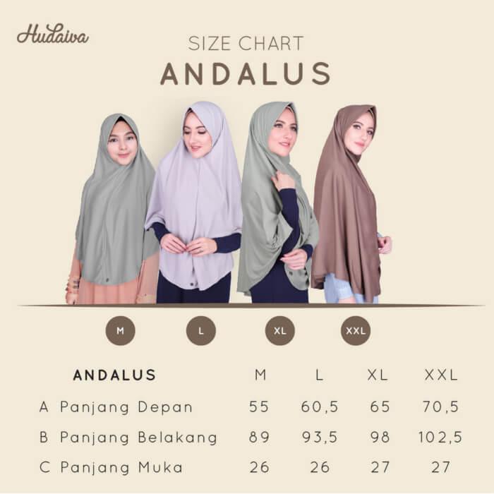 Size Chart Jilbab Andalus