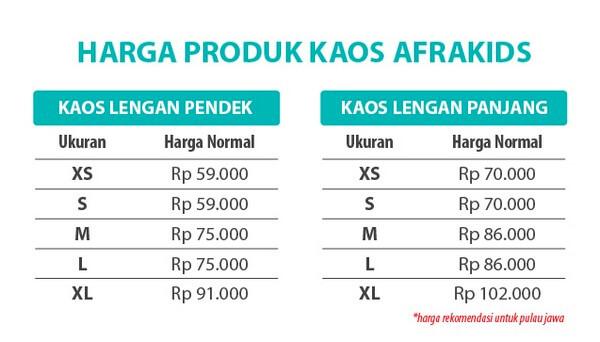 Price List Afrakids