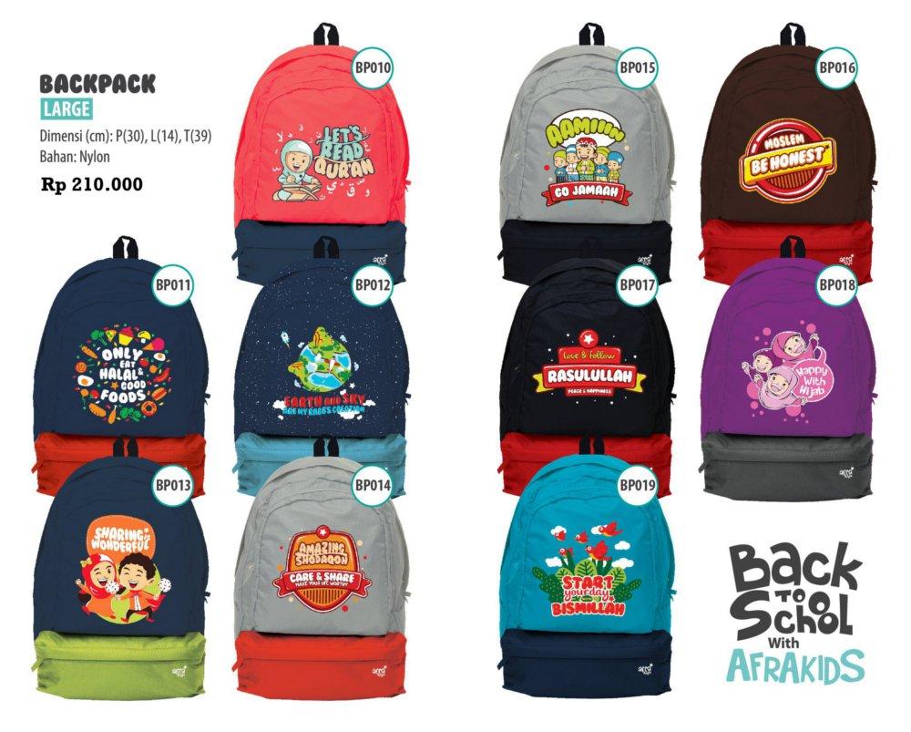 Katalog Lengkap Backpack Afrakids
