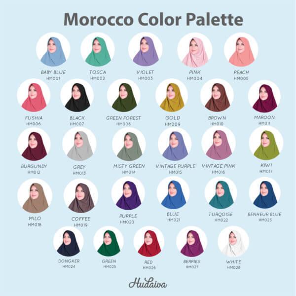 Warna Jilbab Morocco