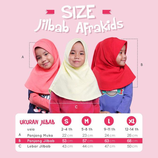 Size Chart Jilbab Afrakids