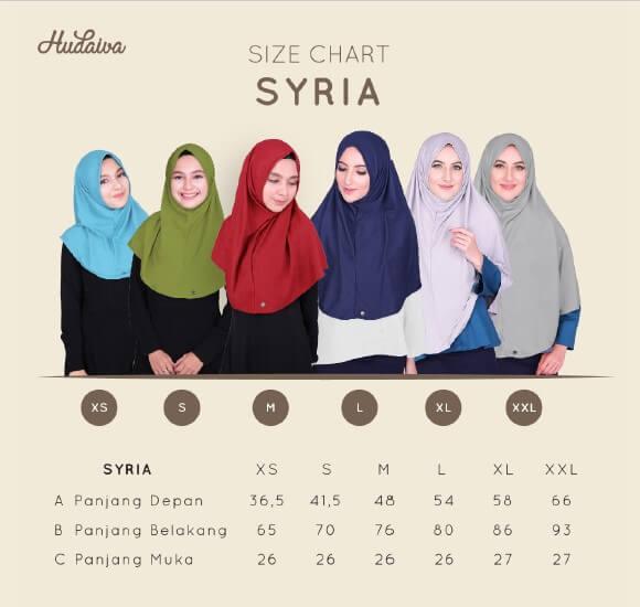 Size Chart Jilbab Syria