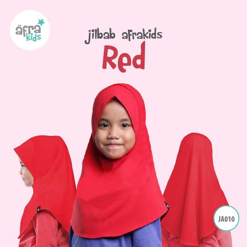 Afrakids AFRA - JA010 Jilbab Afrakids Red
