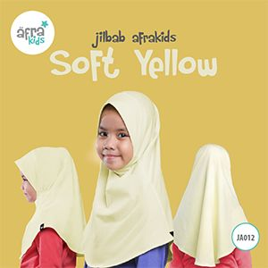 Afrakids AFRA - JA012 Jilbab Afrakids Soft Yellow