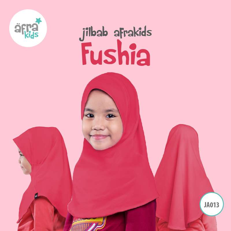 Afrakids AFRA - JA013 Jilbab Afrakids Fushia