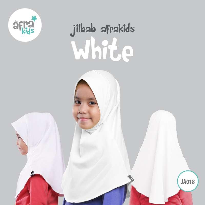 Afrakids AFRA - JA018 Jilbab Afrakids White