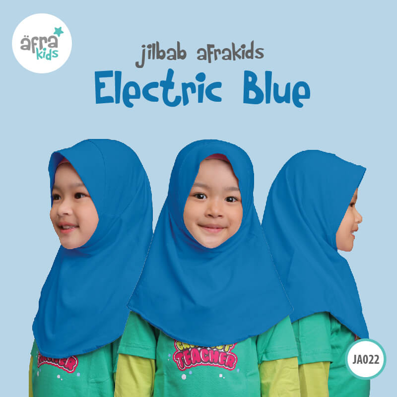 Afrakids AFRA - JA022 Jilbab Afrakids Electric Blue