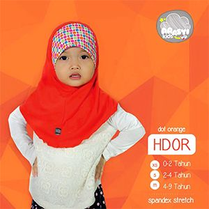 ArasyiKids ARSK - HDOR Hijab Syria Dot Orange