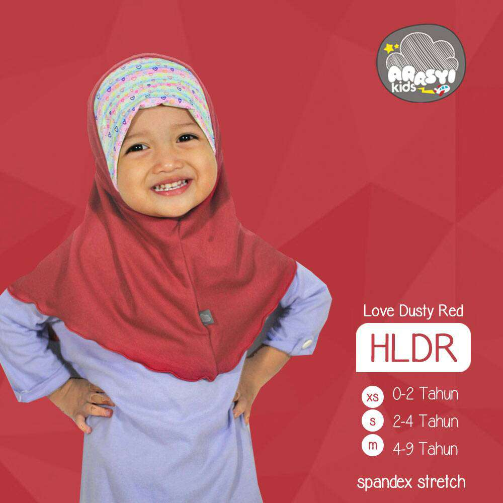 ArasyiKids ARSK - HLDR Hijab Syria Love Dusty Red