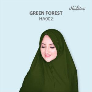 Jilbab Hudaiva Andalus HDVA - HA002 Green Forest