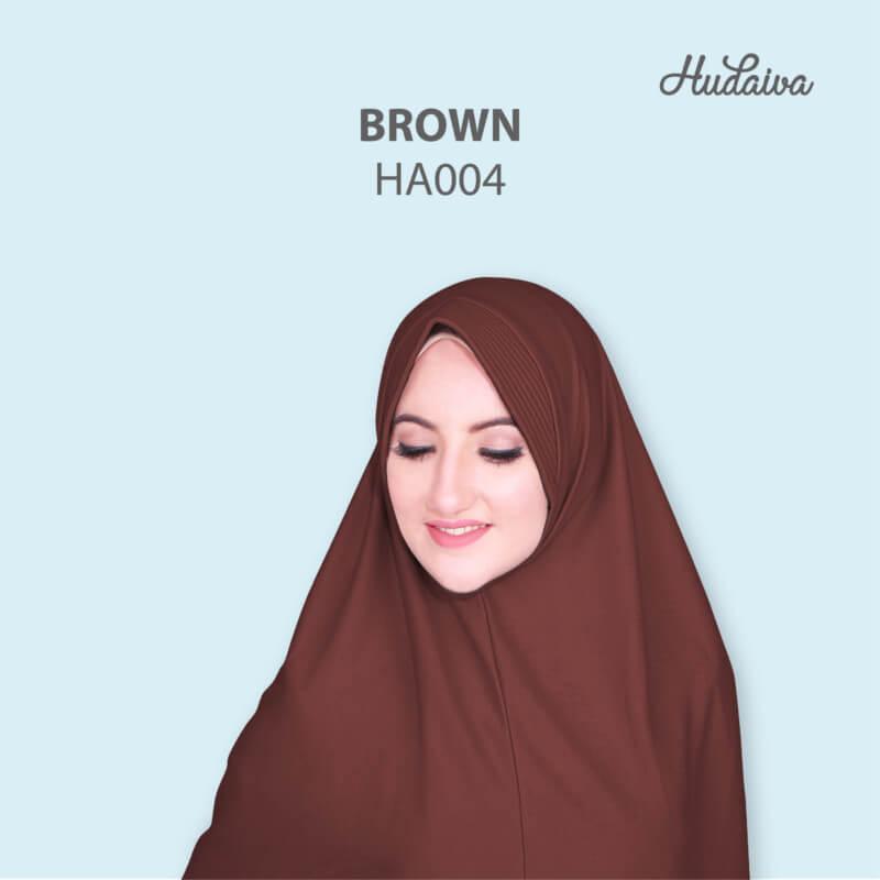 Jilbab Hudaiva Andalus HDVA - HA004 Brown
