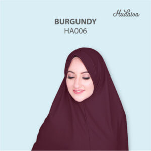 Jilbab Hudaiva Andalus HDVA - HA006 Burgundy