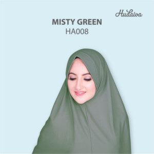 Jilbab Hudaiva Andalus HDVA - HA008 Misty Green