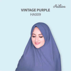 Jilbab Hudaiva Andalus HDVA - HA009 Vintage Purple