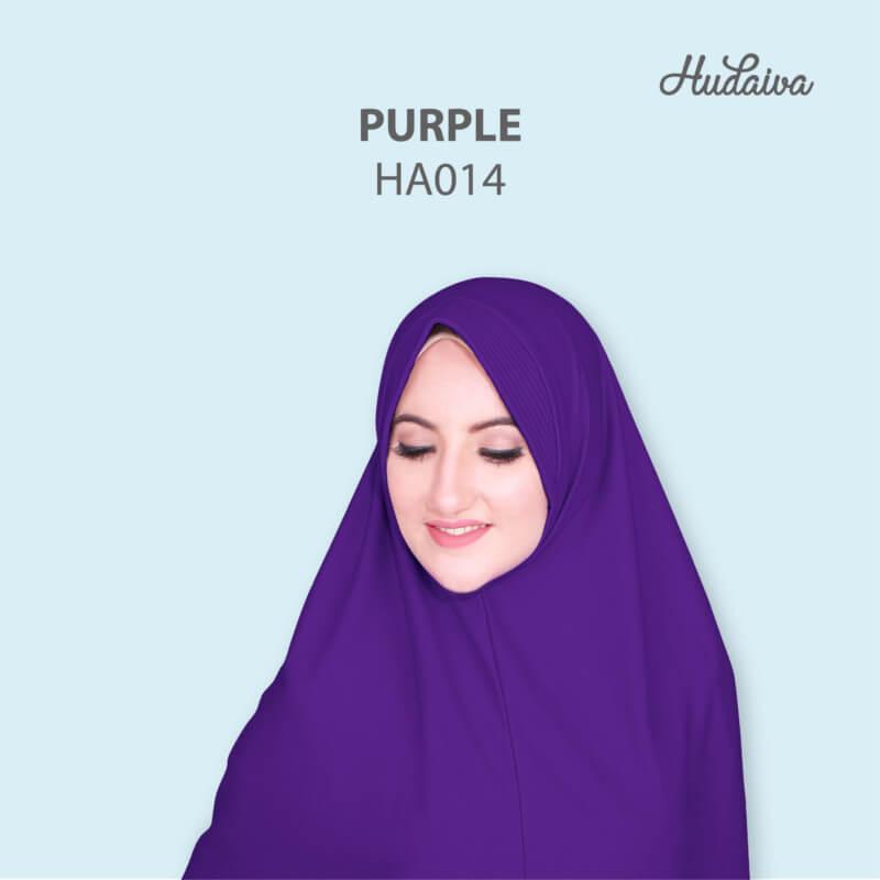 Jilbab Hudaiva Andalus HDVA - HA014 Purple