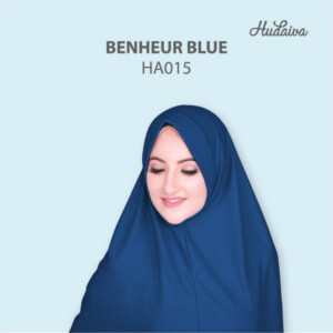 Jilbab Hudaiva Andalus HDVA - HA015 Benheur Blue