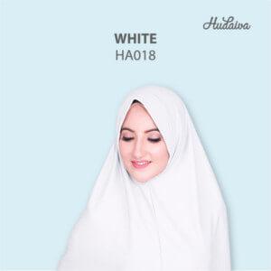 Jilbab Hudaiva Andalus HDVA - HA018 White