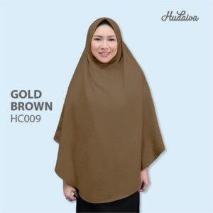 Jilbab Hudaiva Alana HDVA - HC009 Gold Brown