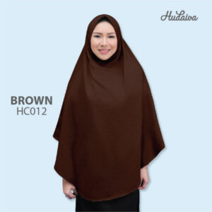 Jilbab Hudaiva Alana HDVA - HC012 Brown