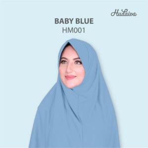 Jilbab Hudaiva Morocco HDVA - HM001 Baby Blue
