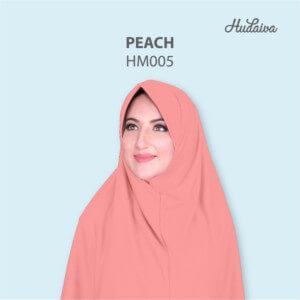 Jilbab Hudaiva Morocco HDVA - HM005 Peach
