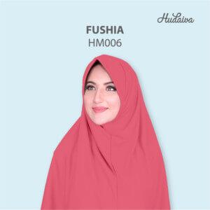 Jilbab Hudaiva Morocco HDVA - HM006 Fushia
