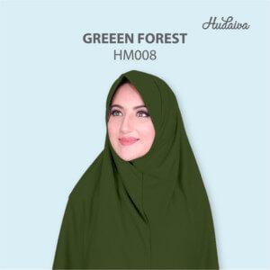 Jilbab Hudaiva Morocco HDVA - HM008 Green Forest
