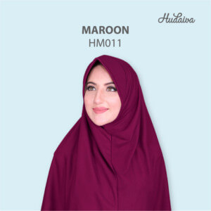 Jilbab Hudaiva Morocco HDVA - HM011 Maroon