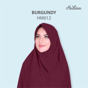 Jilbab Hudaiva Morocco HDVA - HM012 Burgundy