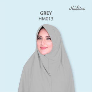 Jilbab Hudaiva Morocco HDVA - HM013 Grey
