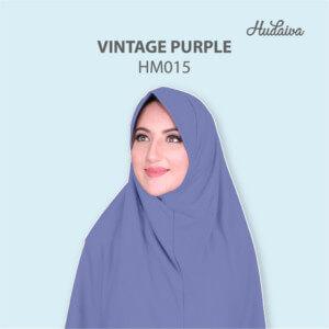 Jilbab Hudaiva Morocco HDVA - HM015 Vintage Purple