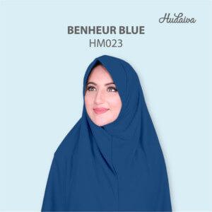 Jilbab Hudaiva Morocco HDVA - HM023 Benheur Blue