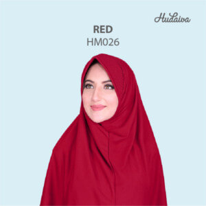 Jilbab Hudaiva Morocco HDVA - HM026 Red