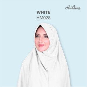 Jilbab Hudaiva Morocco HDVA - HM028 White