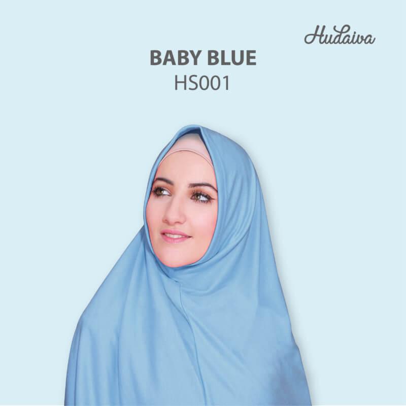 Jilbab Hudaiva Syria HDVA - HS001 Baby Blue