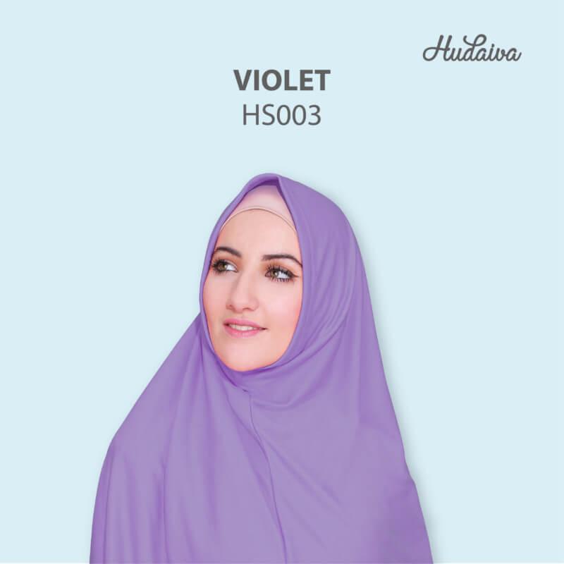 Jilbab Hudaiva Syria HDVA - HS003 Violet