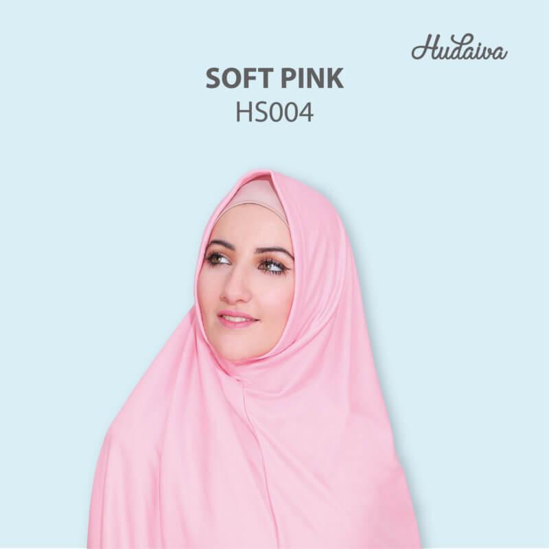 Jilbab Hudaiva Syria HDVA - HS004 Soft Pink