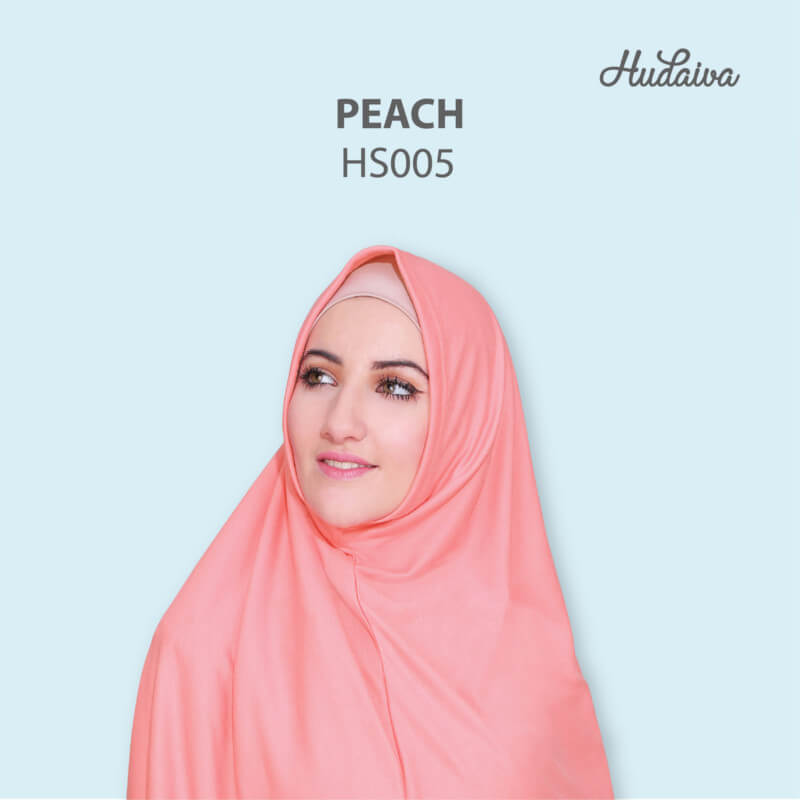 Jilbab Hudaiva Syria HDVA - HS005 Peach