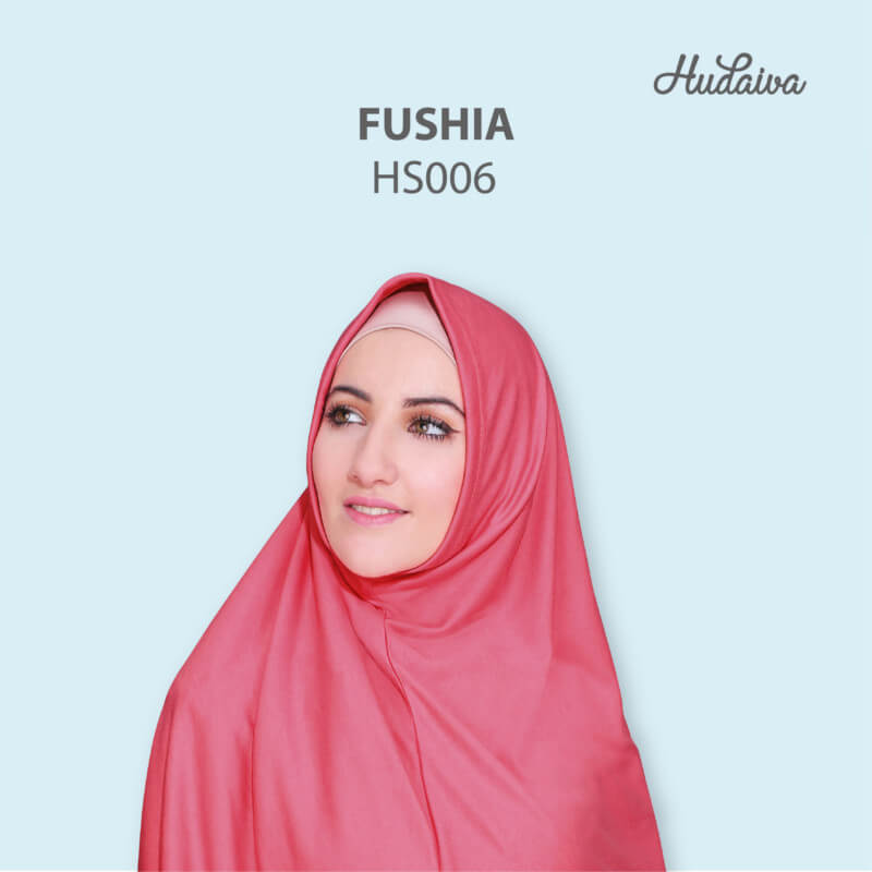 Jilbab Hudaiva Syria HDVA - HS006 Fushia