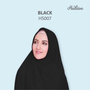 Jilbab Hudaiva Syria HDVA - HS007 Black