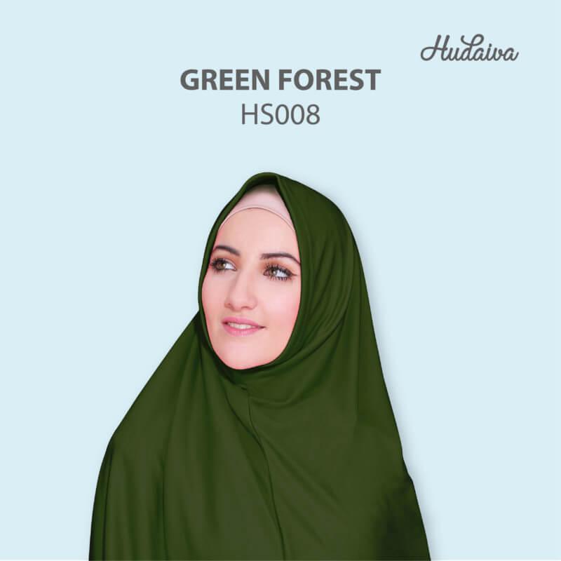 Jilbab Hudaiva Syria HDVA - HS008 Green Forest