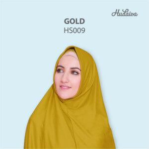 Jilbab Hudaiva Syria HDVA - HS009 Gold