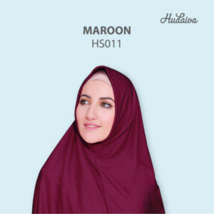 Jilbab Hudaiva Syria HDVA - HS011 Maroon