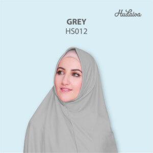 Jilbab Hudaiva Syria HDVA - HS012 Grey
