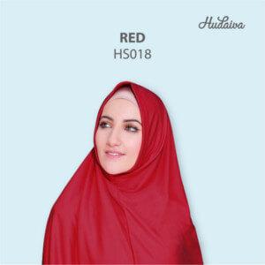 Jilbab Hudaiva Syria HDVA - HS018 Red