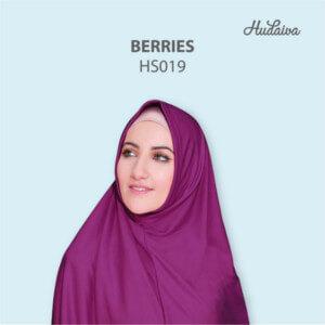 Jilbab Hudaiva Syria HDVA - HS019 Berries