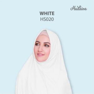 Jilbab Hudaiva Syria HDVA - HS020 White