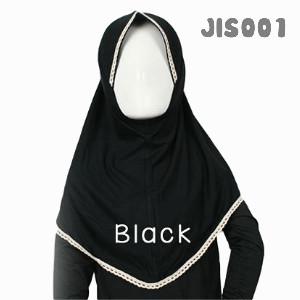 Shira SHRA - JIS001 Jilbab Bergo Renda Anak Black