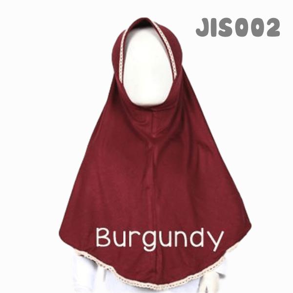 Shira SHRA - JIS002 Jilbab Bergo Renda Anak Burgundy