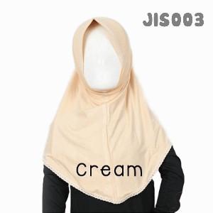 Shira SHRA - JIS003 Jilbab Bergo Renda Anak Cream